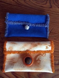 seed bead designs business card holders