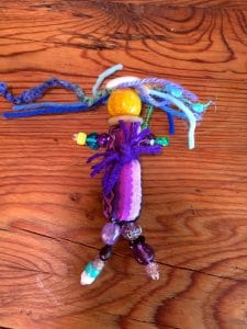 This is the art doll Mary Ellen Merrigan created in the group creative project.