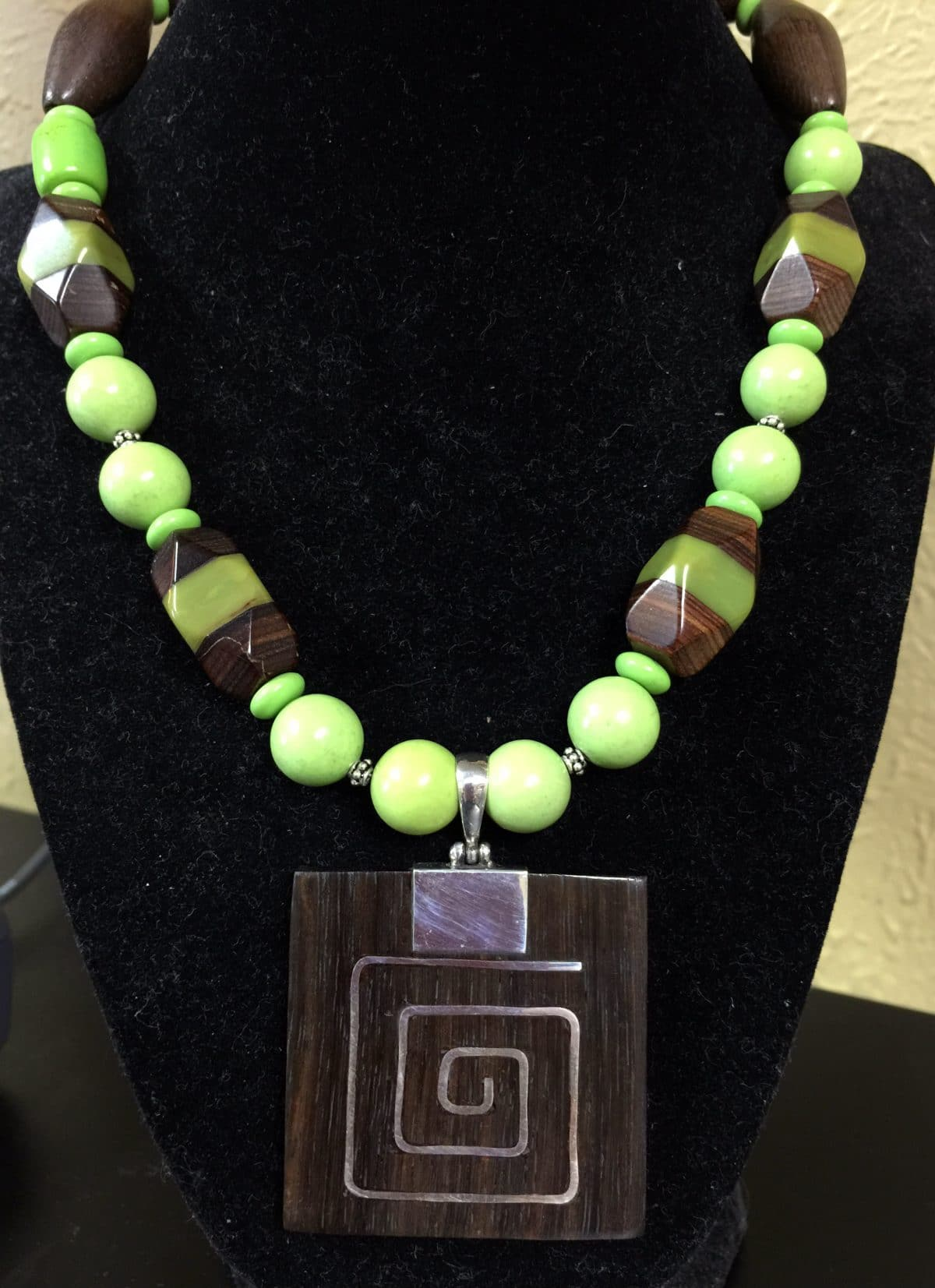 This is a necklace from Mary Ellen Merrigan of Mary Ellen Beads.