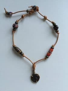This is the necklace I made with the Coin Jewelry from the era of Kushan Kung Vusudiva II.