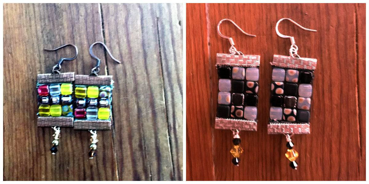 These bead loomwork earrings are from a julianna c avelar class project.