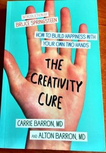 "Mary Ellen Beads Albuquerque writes about ""The Creativity Cure"" saying this book encourages hand-stitch and craft."