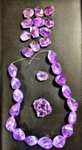 Rough cut amethyst makes a perfect bead-bling candidate for Mary Ellen Beads Albuquerque.