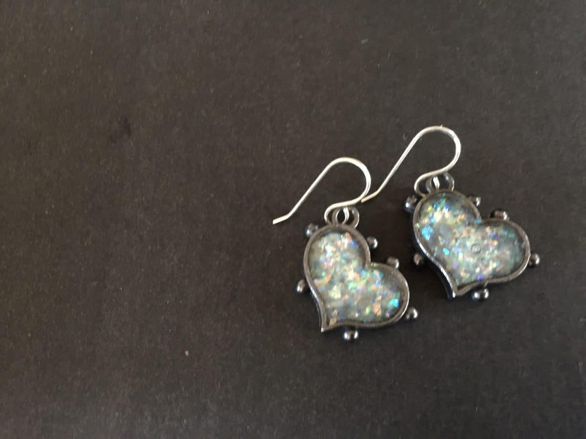 These ice resin earrings are perfect bead bling for the Holidays from Mary Ellen Beads Albuquerque.