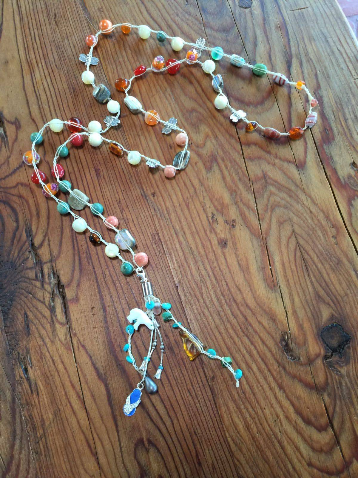 Learn to make this bead crochet necklace from Mary Ellen Merrigan of Mary Ellen Beads in a class at New Tricks Art Gallery & Workshop.