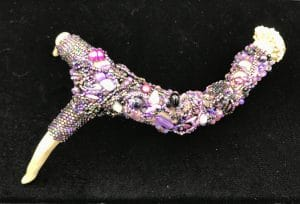 These purple beaded antlers are from Mary Ellen Beads Albuquerque.