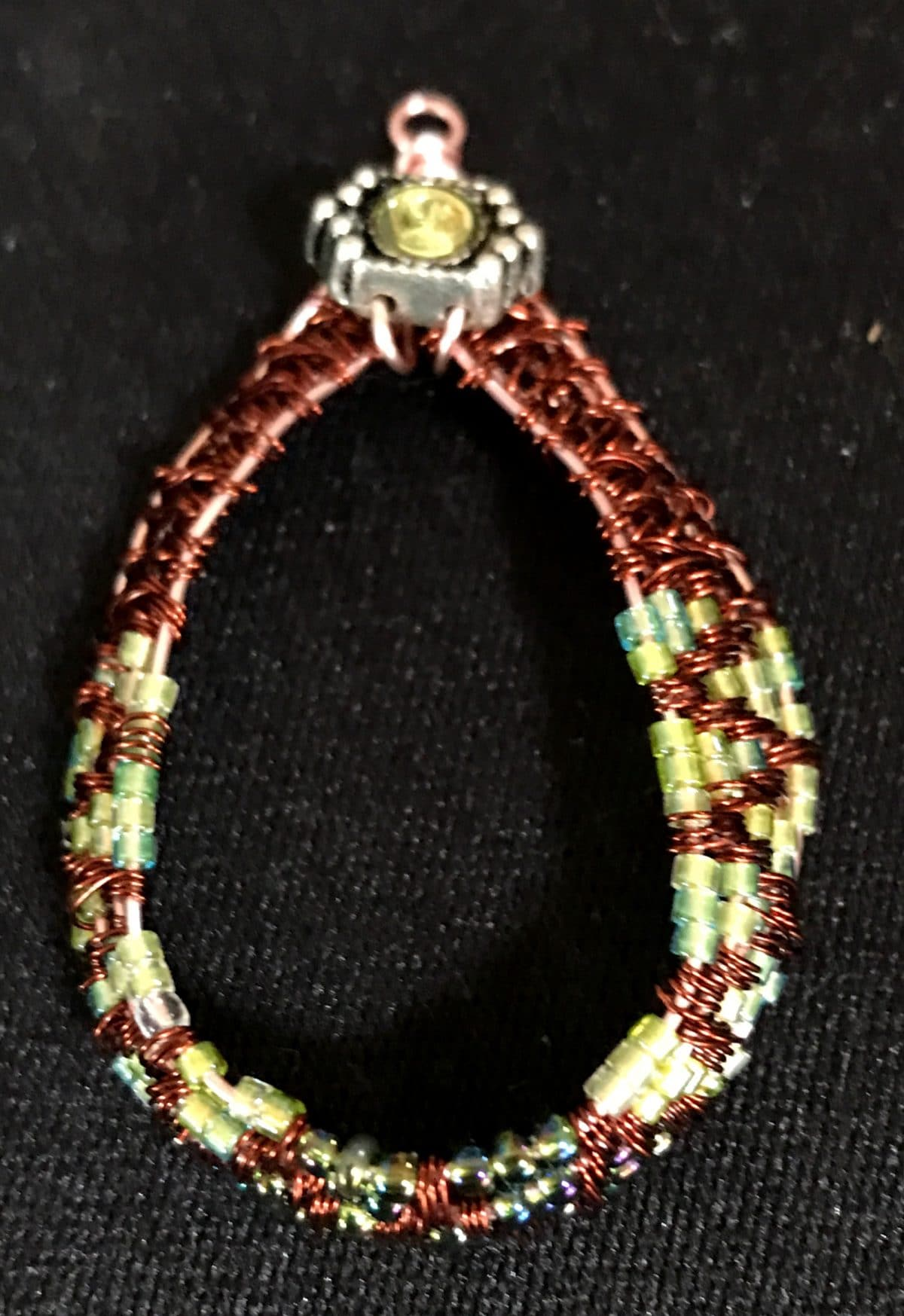 This earring busts the comfort zone for Mary Ellen of Mary Ellen Beads Albuquerque.