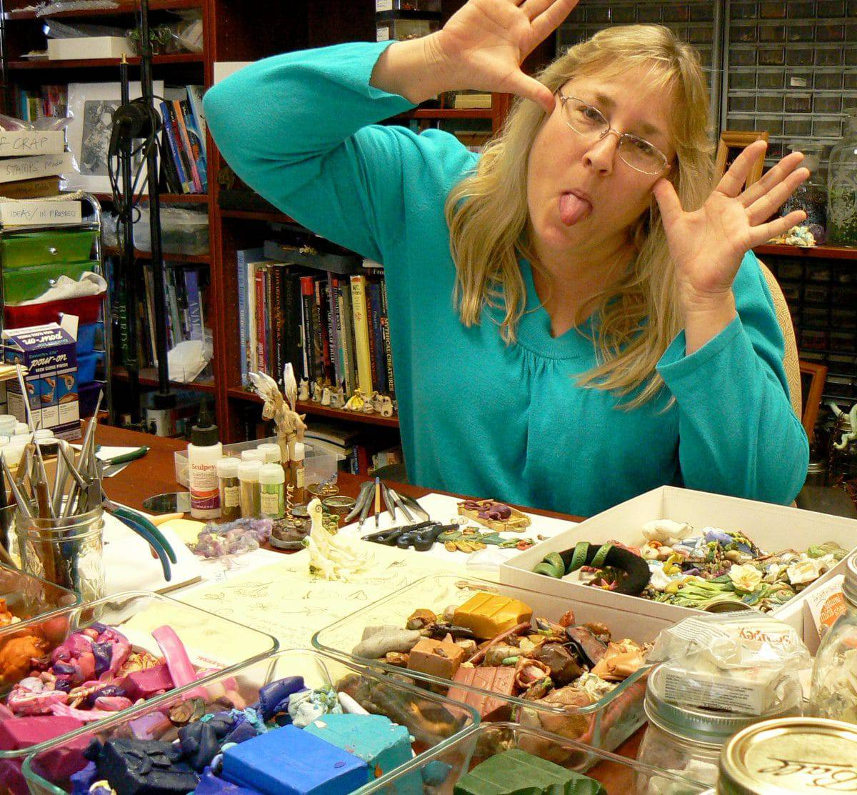 Mary Ellen Beads talks with Christi Friesen, polymer clay artist, about creativity.