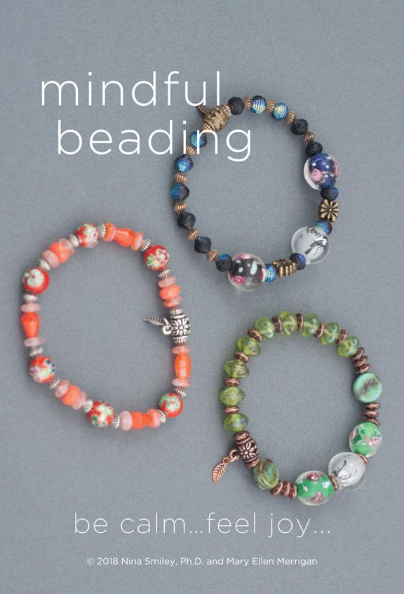 These stretchy bracelets were part of a Mindful Beading workshop presented by Mary Ellen Beads Albuquerque.