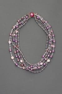 Add this 5-strand necklace from the symbols and treasures collection by Mary Ellen Beads Albuquerque.