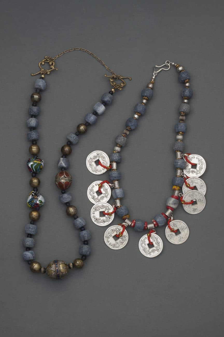 These ethnic necklaces from Mary Ellen Beads Albuquerque will be part of the Sandia Heights Artists Studio Tour in September.